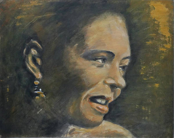 Wall Art - Painting - Billie Holiday by Fer Overdijk