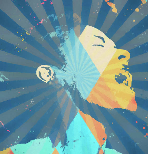 Wall Art - Painting - Billie Holiday Retro by Dan Sproul