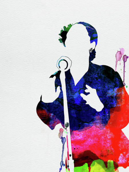Rock And Roll Mixed Media - Billie Holiday Watercolor by Naxart Studio