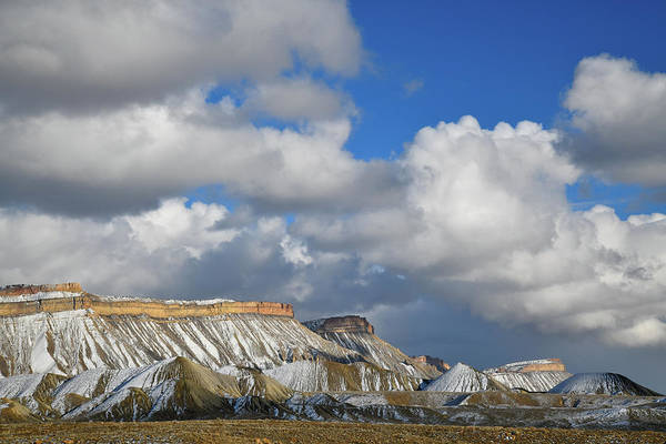 Photograph - Billowing Clouds Above Book Cliffs by Ray Mathis