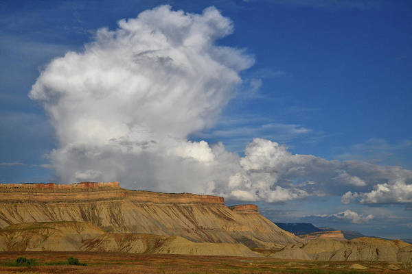 Photograph - Billowing Thunderhead Over Book Cliffs by Ray Mathis