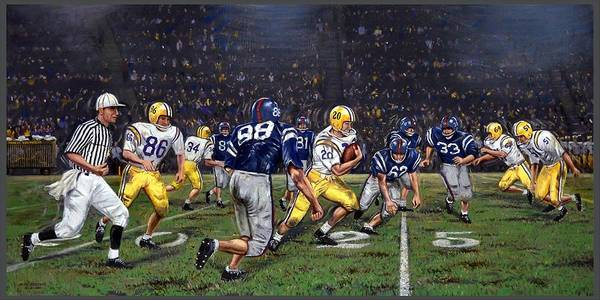 Crowd Painting - Billy Cannon's Halloween Heisman Haul by Mike Roberts