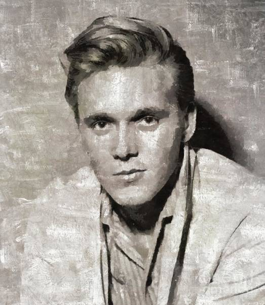 Wall Art - Painting - Billy Fury, Music Legend by Mary Bassett