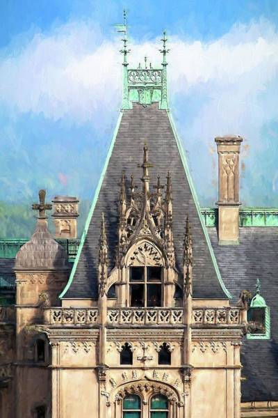 Photograph - Biltmore Architectural Detail Painting  by Carol Montoya