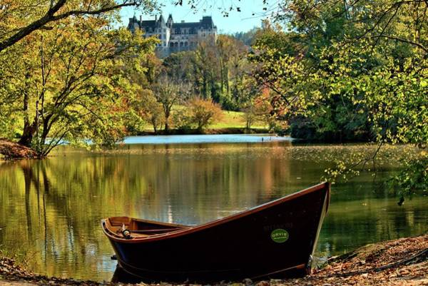 Photograph - Biltmore Autumn And Orvis Rowboat  by Carol Montoya
