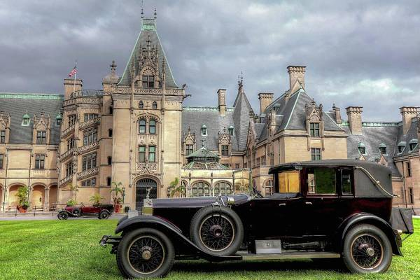 Photograph - Biltmore House And Two Rolls Royce by Carol Montoya