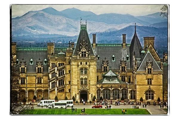 Photograph - Biltmore House First View by Allen Nice-Webb