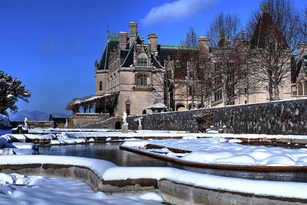 Photograph - Biltmore Itailian Gardens Covered In Snow by Carol Montoya