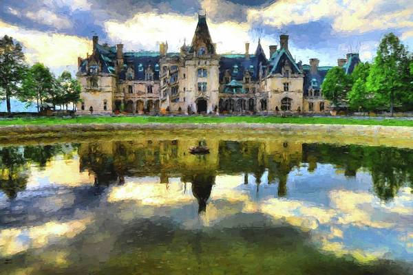 Photograph - Biltmore Reflection Painting by Carol Montoya