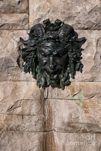 Photograph - Biltmore Satyr Fountain by Dale Powell