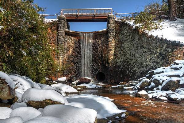 Photograph - Biltmore Water Fall During Winter by Carol Montoya