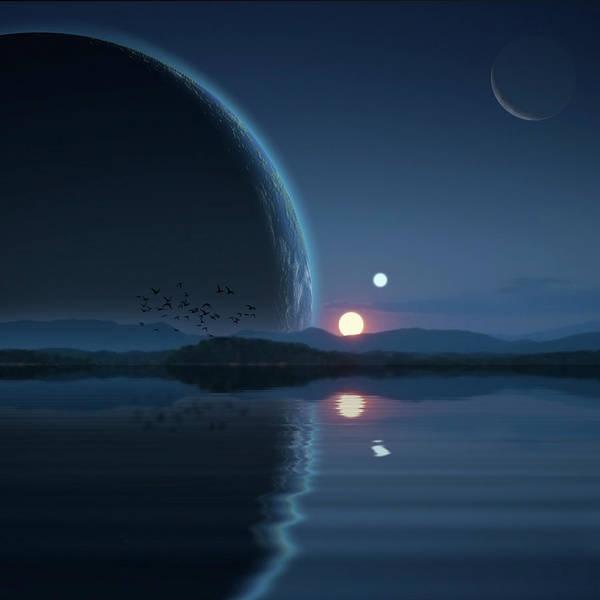 Digital Art - Binary Sunset 3 by Marc Ward