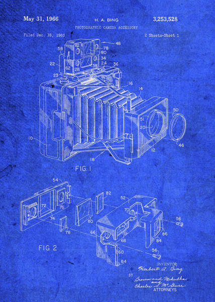 Patent Mixed Media - Bing Camera Vintage Patent Blueprint by Design Turnpike