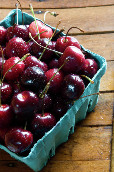 Fruit Photograph - Bing Cherries by Patricia Granlund