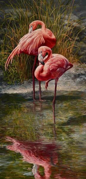 Wall Art - Painting - Bingo Flamingo by Laurie Snow Hein