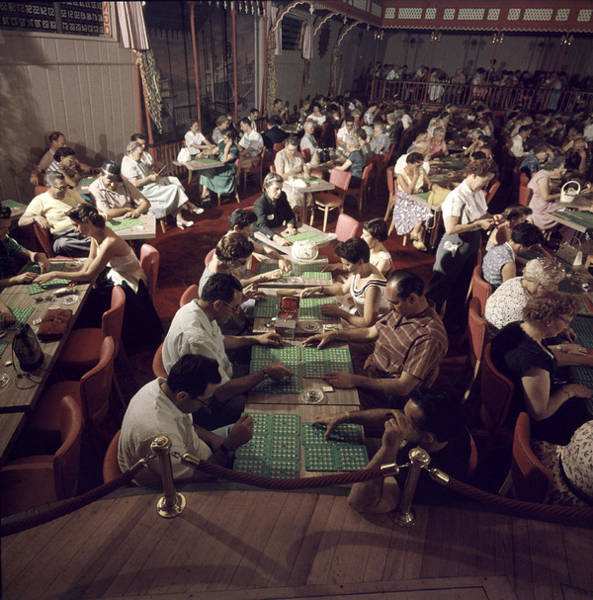 Photograph - Bingo Room At The Showboat by Loomis Dean