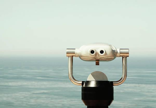 Binoculars Photograph - Binoculars By Ocean by Shari Weaver Photography