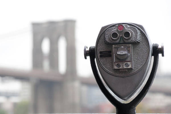 Binoculars Photograph - Binoculars On Riverbank In Manhattan by Keith Levit Photography