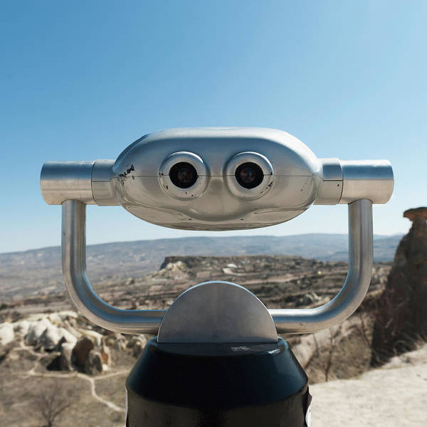 Nevsehir Photograph - Binoculars With A View Of The Landscape by Keith Levit / Design Pics