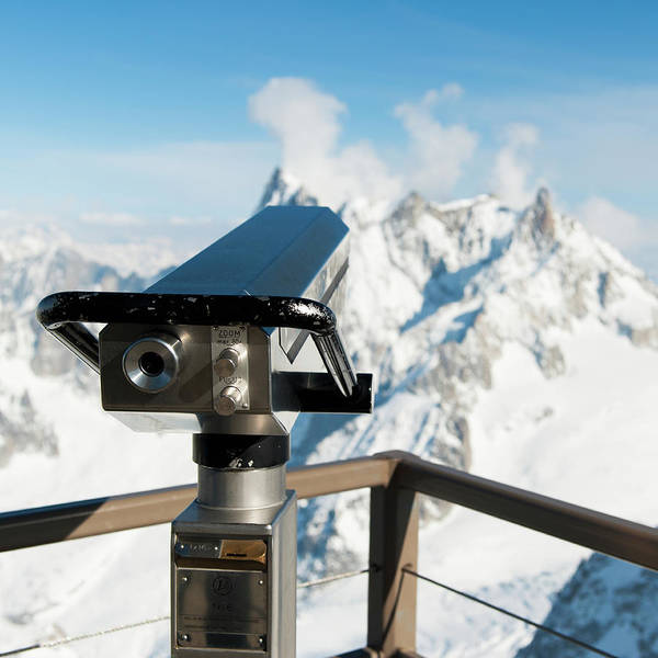 Binoculars Photograph - Binoculars With A View Of The Snow by Keith Levit / Design Pics