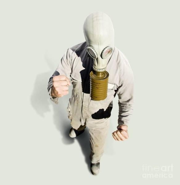 Gasmask Photograph - Biohazard Battle by Jorgo Photography - Wall Art Gallery