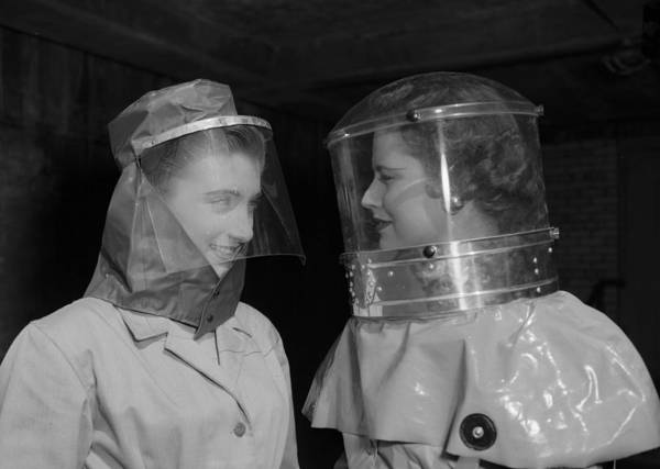 Protective Clothing Photograph - Biohazard Suits by Ron Case