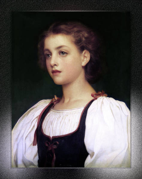 Digital Art - Biondina By Lord Frederic Leighton by Xzendor7
