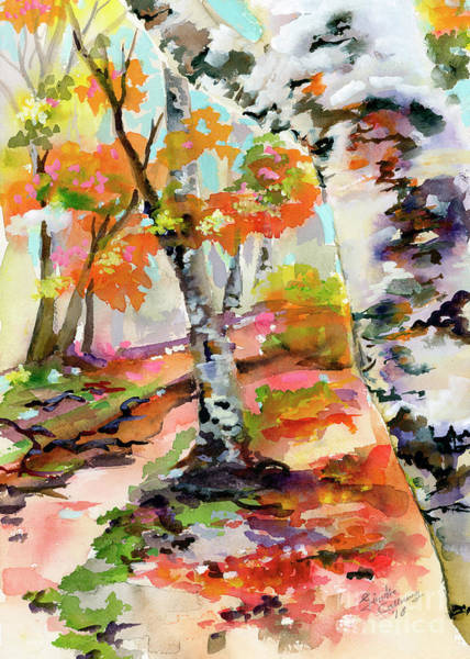 Painting - Birch Trees Around The Bend by Ginette Callaway