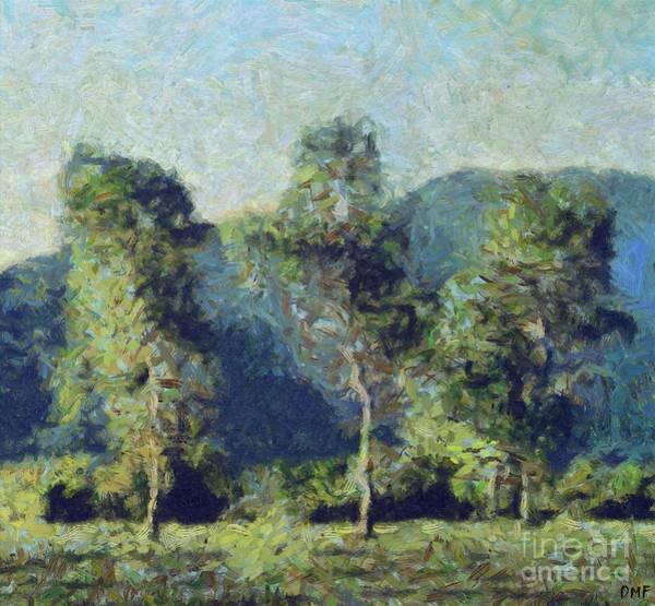 Wall Art - Painting - Birches On The Ljubljana Moor by Dragica Micki Fortuna