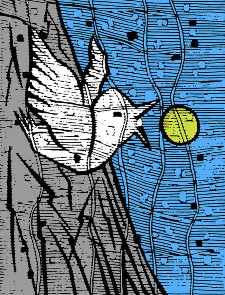Digital Art - Bird And The Sun by Artist Dot