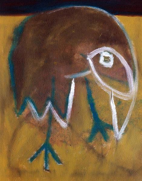 Painting - Bird In A Desert by Artist Dot