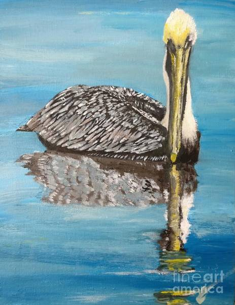 Painting - Bird In Waiting by Abbie Shores