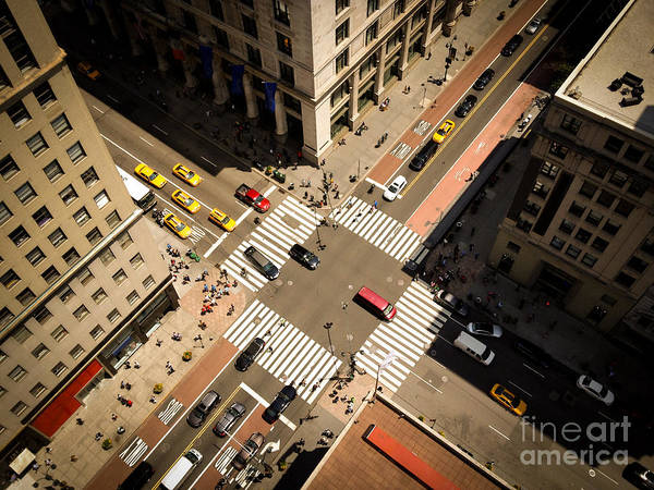 Birds Eye View Of Manhattan, Looking Art Print by Heather Shimmin