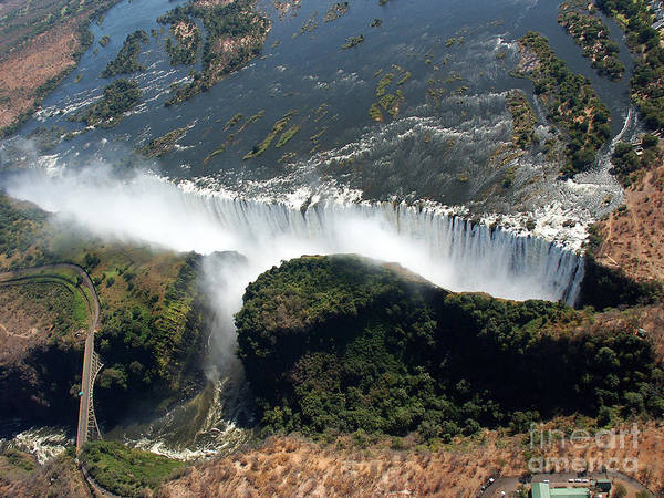 Tour Wall Art - Photograph - Birds Eye View Of The Victoria Falls by Wolfso