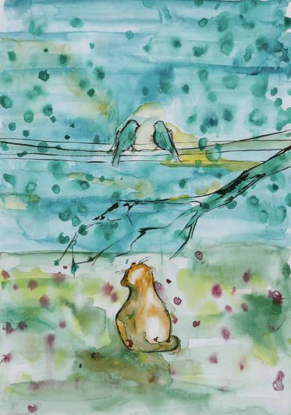 Painting - Birds Friend by Maria Arnaudova