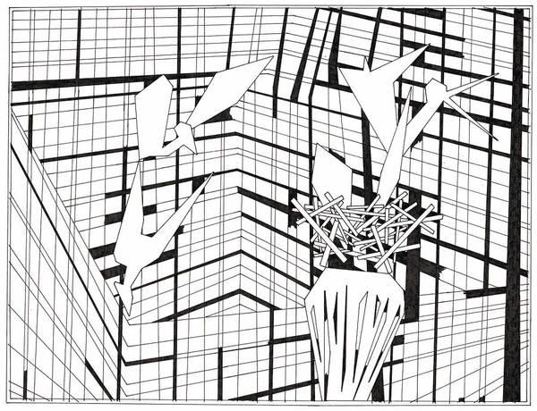 Drawing - Birds Nest by Artist Dot