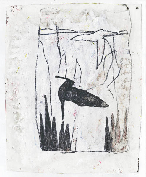 Mixed Media - Birds On A Lake Sketch by Artist Dot