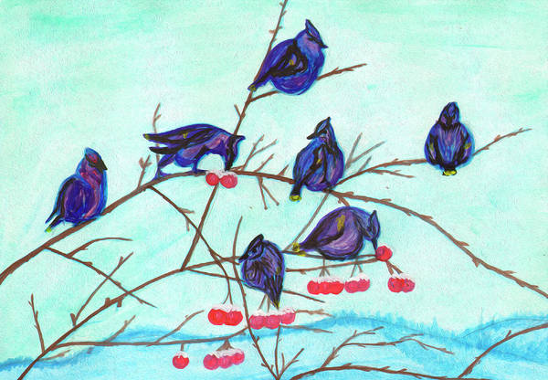 Painting - Birds On Wild Apple Branches by Irina Dobrotsvet