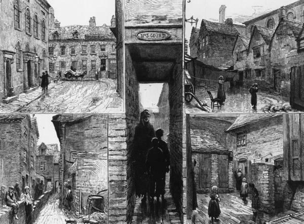 Craftsperson Digital Art - Birmingham Slums by Hulton Archive