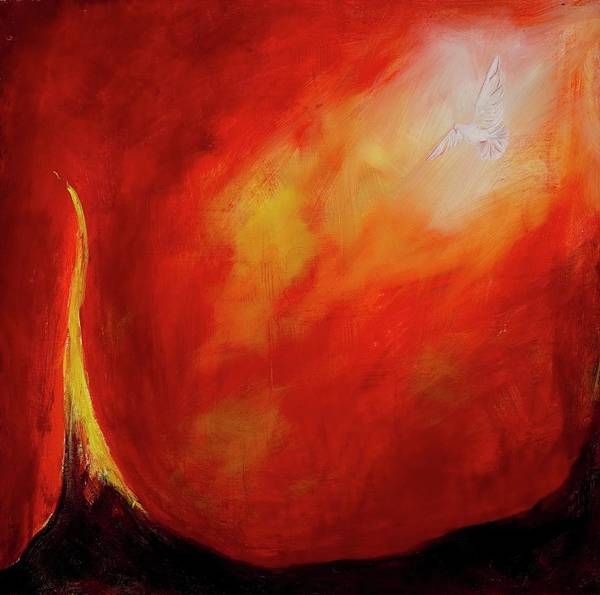 21st Painting - Birth 1, 2005 Oil On Canvas by Stella Salazar