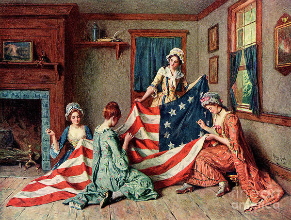 Wall Art - Painting - Birth Of The Flag by Henry Mosler
