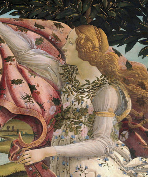 Wall Art - Painting - Birth Of Venus Detail by Sandro Botticelli