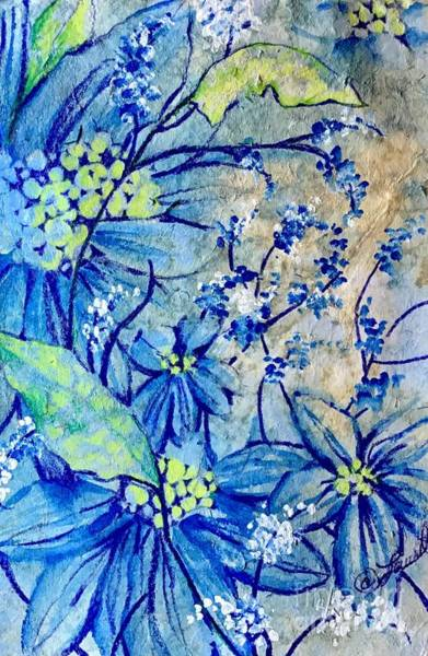 Mixed Media - Birthday Blues by Laurel Adams