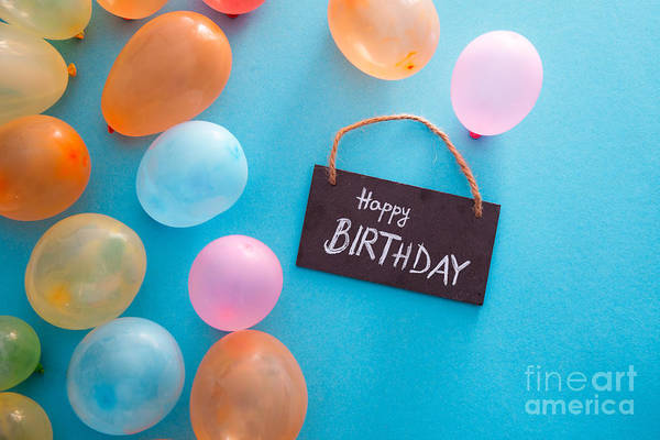 Wall Art - Photograph - Birthday Concept With Baloons by Mythja Photography