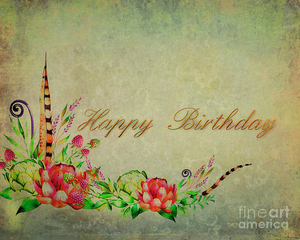 Digital Art - Birthday Greetings by Edmund Nagele