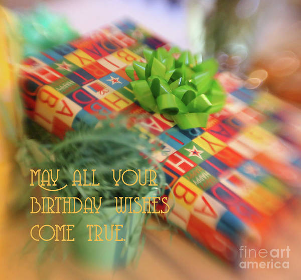 Photograph - Birthday Wishes by Natural Abstract Photography