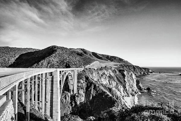 Wall Art - Photograph - Bixby Bridge Big Sur California - Bw by Scott Pellegrin