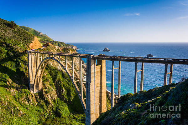 Wall Art - Photograph - Bixby Creek Bridge, In Big Sur by Jon Bilous