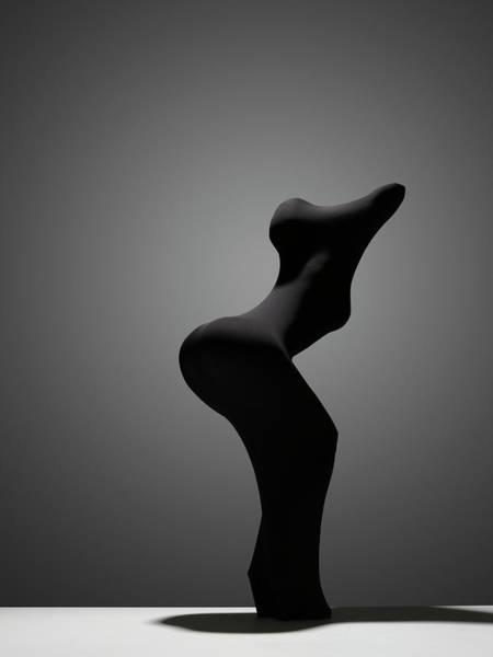 Hiding Photograph - Black Abs by John Lamb