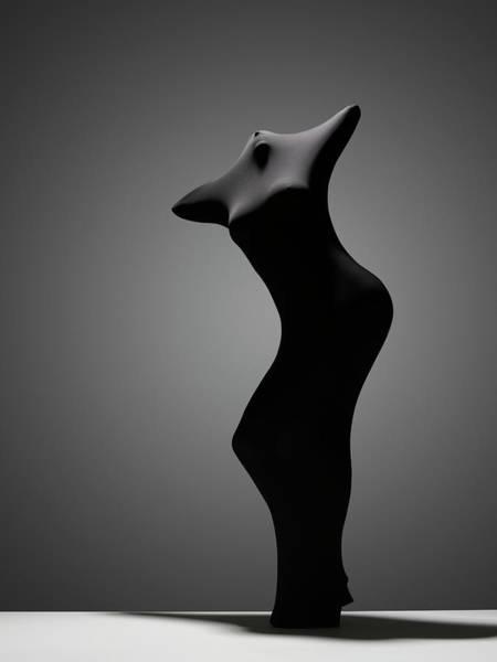Hiding Photograph - Black Abstra by John Lamb